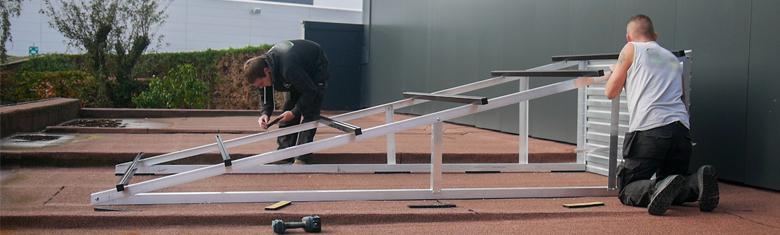 Welke hellingshoek voor zonnepanelen op een plat dak?
